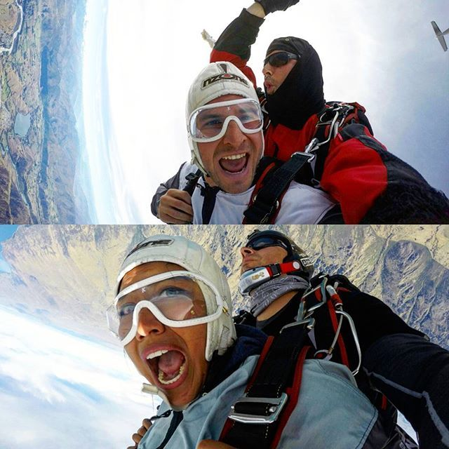 We just wanted to fly ❤ - best feeling ever! #skydiving #queenstown #nzone #adventures #extreme #outdoors #viewsfordays #thrill #freefall #soawesome #nzmustdo #jump #iflylikepapergethighlikeplanes #upsidedown #travel @nzoneskydive @queenstownholidays @purenewzealand @queenstownnz