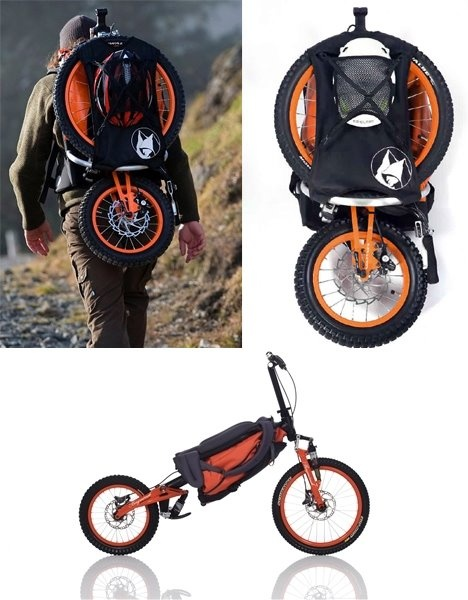 Why hire a car or motor bike when you travel anywhere? Make way for a cool folding bicycle backpack.
