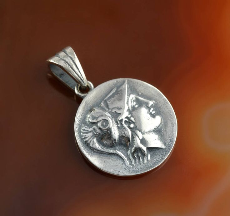 Athena silver pendant, Athena pendant, ancient coin pendant, coin pendant, greek coin pendant, greek pendant, ancient coin, greek goddess by GreekGoddessJewelry on Etsy
