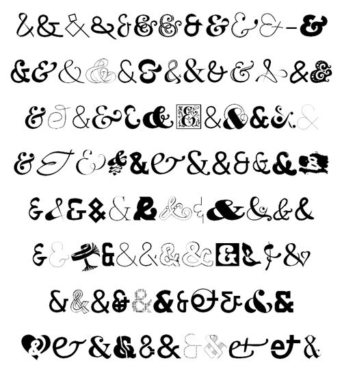 Curly ampersands | Calligraphy, Letters and Words | Pinterest