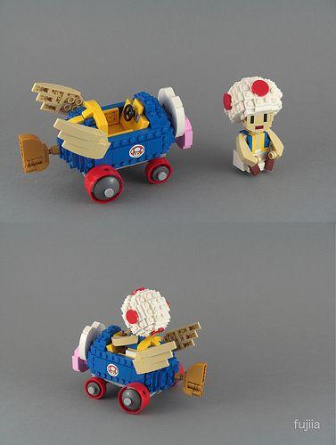 Mario Kart - Toad - alternate views | by fujiia