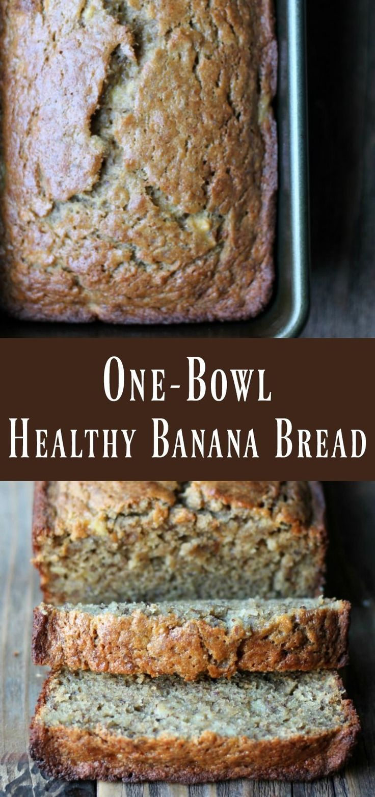 One-bowl healthy Banana Bread Recipe
