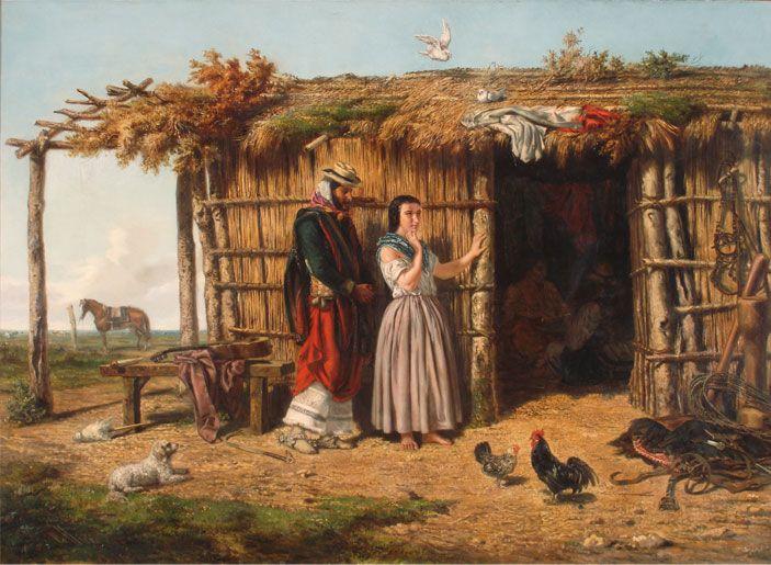 JUAN LEÓN PALLIÈRE Idilio criollo , 1860 Óleo sobre tela 100 x 140 cm Colección Museo Nacional de Bellas Artes