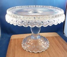 Antique Pressed Glass Cake Stand nice & 350 best Pedestal Cake Plates - Vintage images on Pinterest | Cake ...