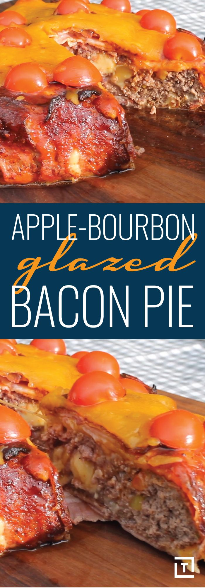 Maybe you're in it for the crispy, loaded bacon; maybe you're in it for the apple-infused bourbon glaze; maybe you're just a diehard barbecue enthusiast -- whatever the reason, you need to try this easy recipe by 0815BBQ. It takes all of the aforementioned ingredients and combines them in one epic, apple-bourbon glazed bacon pie: a grilled masterpiece, boasting bold flavors through copious amounts of freshly grated cheese, juicy meat, and smooth, savory bourbon sauce. Keep calm and bacon.