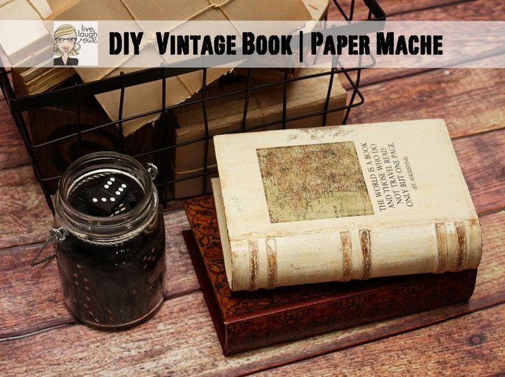 Turn a paper mache book into DIY Vintage masterpiece (with a hidden nook!)