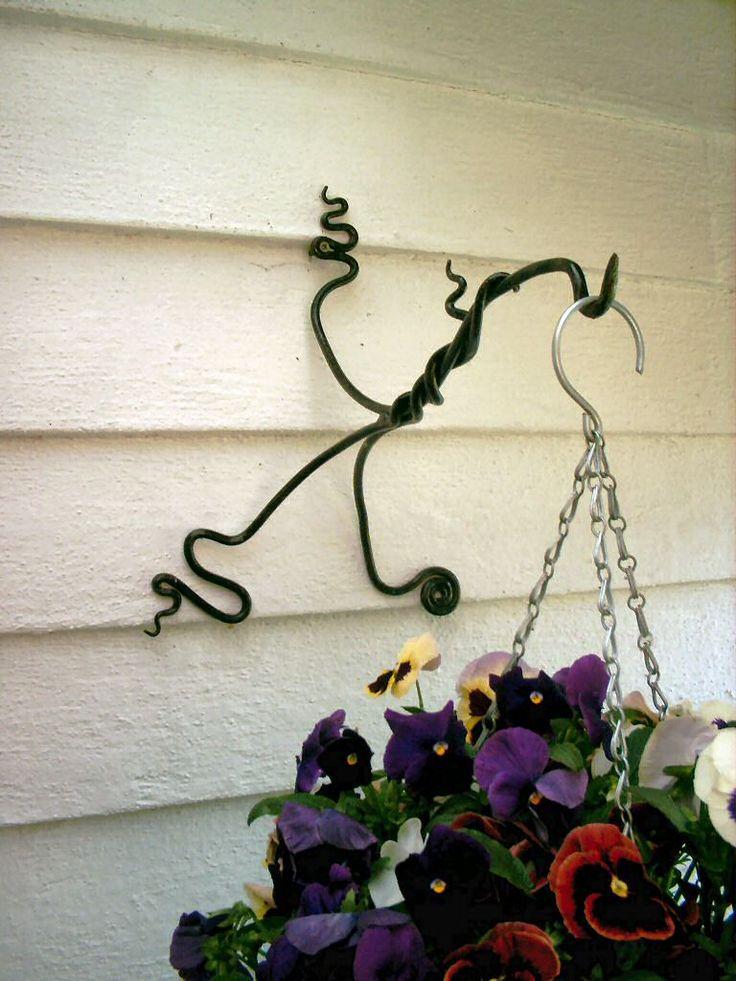 Hanging Basket Bracket -- iron work