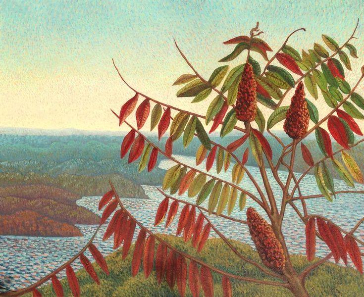 New Painting Autumn Sumac, Princess Point 2015 oil 20 x 24  @Mark_Sanche @HamArtsCouncil @artcaninstitute @TheAGH