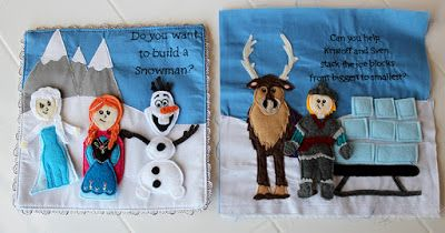 Get Your Craft On: Princess Quiet Book - Anna, Elsa, Kristoff, Olaf & Sven - Frozen Quiet Book