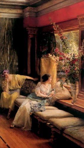 Vain Courtship Lawrence Alma Tadema