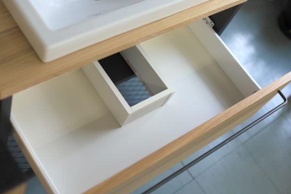引き出しを開けた様子 ワークカウンター洗面台 洗面台 カウンター 洗面