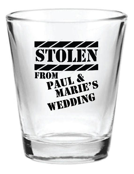 168 Personalized 1.5oz Wedding Favor Glass Shot Glasses Custom Funny Wedding Designs