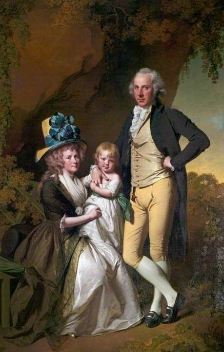 BBC - Your Paintings - Richard Arkwright Junior (1755–1843), with His Wife Mary, and Daughter Anne