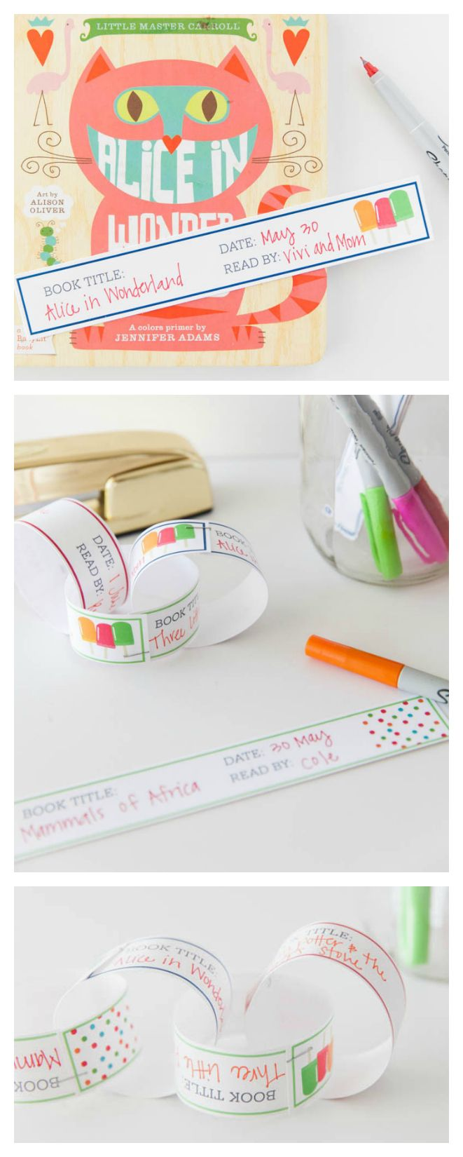 Printable Paper Reading Chain | Keep the kids motivated to read with this fun paper chain