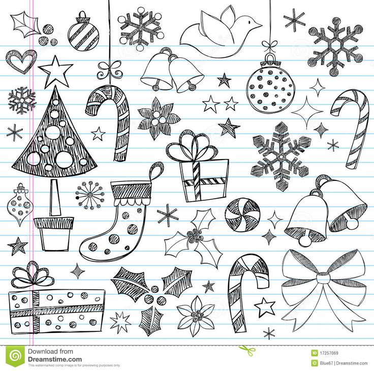 Christmas Hand-Drawn Sketchy Doodles - Download From Over 38 Million High Quality Stock Photos, Images, Vectors. Sign up for FREE today. Image: 17257069