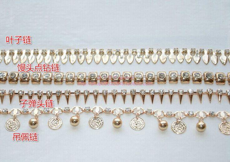 Новой ручной работы золотая цепь алмазный цветок цепь Талия цепи ювелирных горный хрусталь Бижутерия аксессуары оптовые сандалии - Taobao