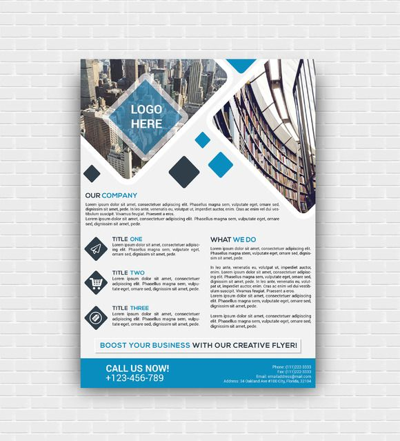 Korporat Flyer Template by assaiv on Creative Market