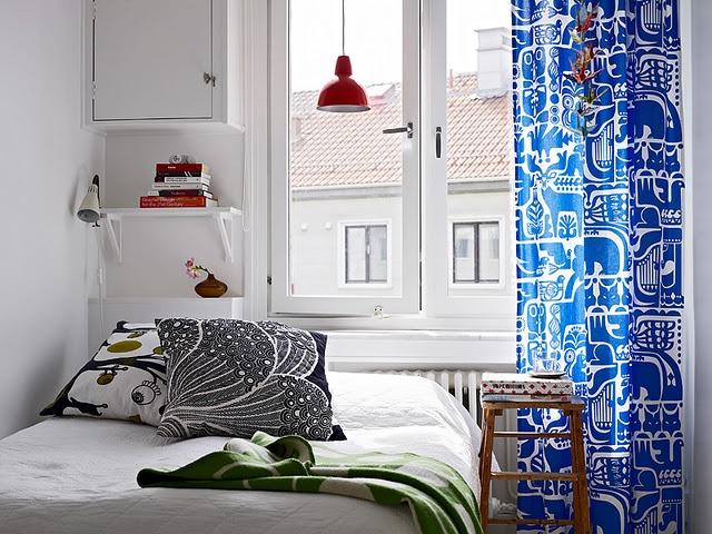 marimekko curtain + love the window as well