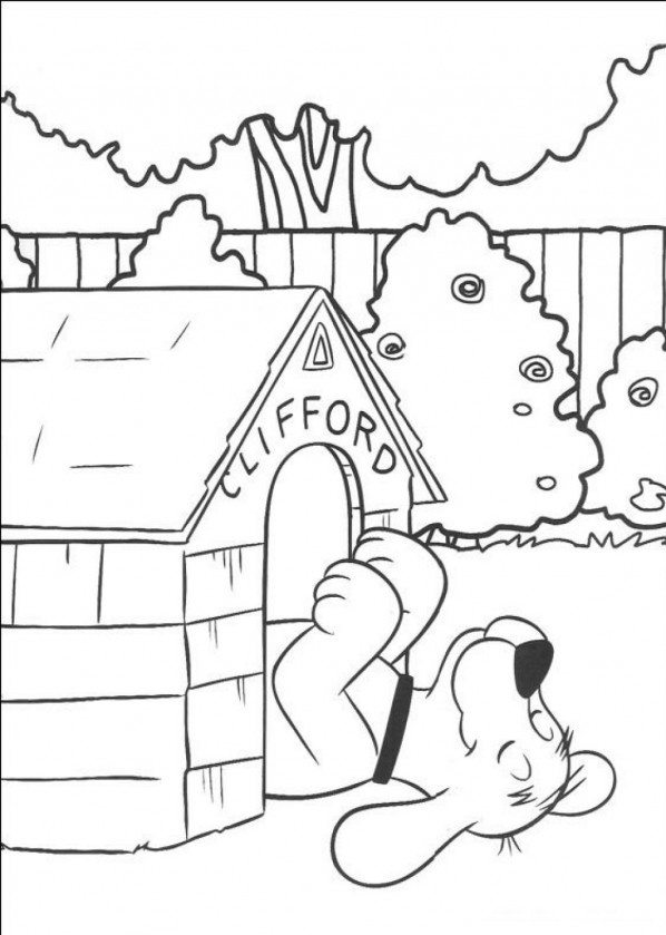 clifford preschool coloring pages - photo#36