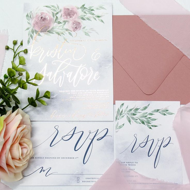 (@faithintoart) on Instagram: More details of Kristin's suite. She had two different RSVP cards tailored for her guests. I loved the idea of a more modern one with a website, and an old fashioned reply card for the seniors in her family. ❤️ . #faithintoart #wedding #weddingsuite #weddingstationery #weddingphotography #luxe #luxury #luxestationery #customstationery #stationery #rosegold #blush #watercolor #watercolorflowers #watercolorflorals #marble #roses