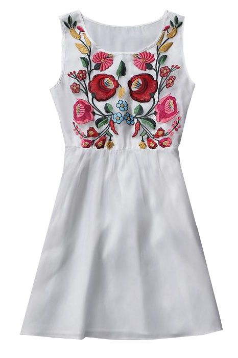 embroidered dress                                                       …