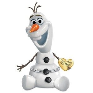 "Olaf Porcelain Music Boxes Olaf knew the meaning of true love: ""Some people are worth melting for."" Made for granddaughters and handcrafted out of beautiful Heirloom Porcelain."