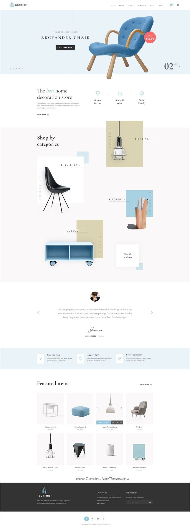 Bonfire is a creative multipurpose #Photoshop template for a range of # #interior #shop, business & corporation like fashion store, creative agency, web studios, freelancers, shop, architecture portfolio websites Comes with 18+ stunning Pre-defined Homepages & 44 organized PSD pages download now➩ https://themeforest.net/item/bonfire-creative-multipurpose-psd-template/19267643?ref=Datasata