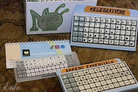 Template for pocket folder to hold individual cricut book for Keyboard overlay template