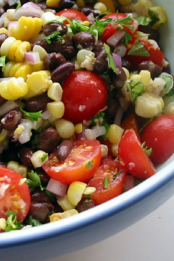 Baja Black Beans, Corn and Rice with Lime & Cilantro #Recipe: great hot or cold & hearty enough to be a #meatless main dish.