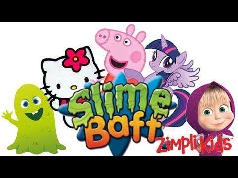 Slime Baff Bathing Toys Hello Kitty Peppa Pig MLP Masha - Eggs and Toys TV