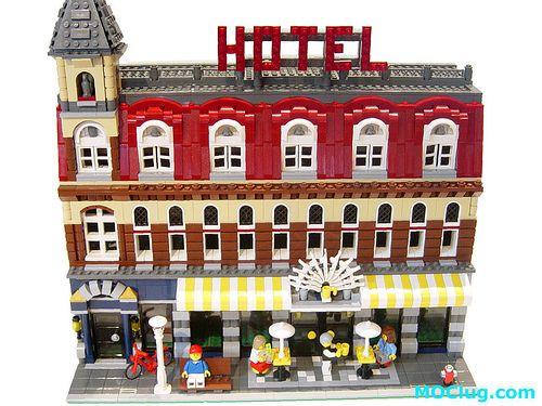 LEGO 10182 Cafe Corner straightened modification | LEGO Corn… | Flickr