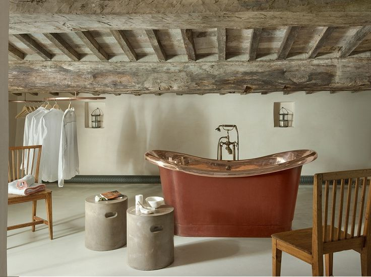 HOTELS & CO | Monteverdi Villas Tuscany - rustic chic #bathrooms ** #bagnidalmondo