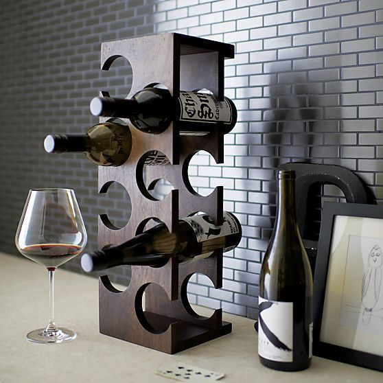 Woodinville 8-Bottle Wine Rack in Bar Accessories | Crate and Barrel: