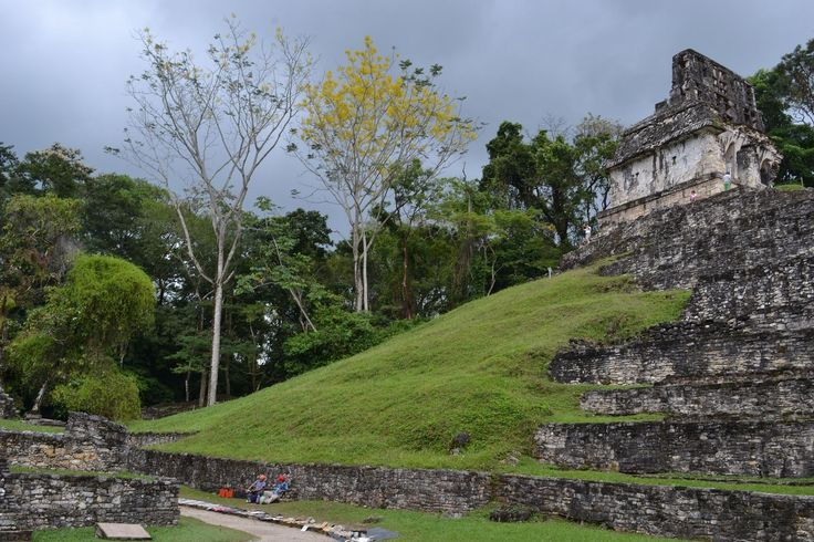 Palenque (Yucatec Maya: Bàak' /ɓàːk'/) was a Maya city state in southern Mexico that flourished in the 7th century. The Palenque ruins date back to 226 BC to around 799 AD. After its decline, it was absorbed into the jungle, which is made up of cedar, mahogany, and sapodilla trees, but has been excavated and restored and is now a famous archaeological site attracting thousands of visitors. It is located near the Usumacinta River in the Mexican state of Chiapas, located about 130 km (81 mi)…