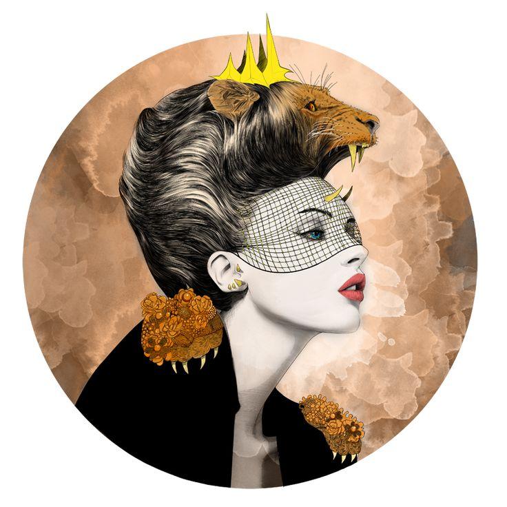 """• LEÃO • Desenho de Mustafa Soydan inspirado livremente no signo de #Leao • DESCUBRA o colar da Família """"O Céu sobre Nós"""" clicando na imagem #mariarossetti #leoninas #colarleao #zodiaco #horoscopo #oceusobrenos #astrologia #mustafasoydan { post by www.mariarossetti.com.br }"""