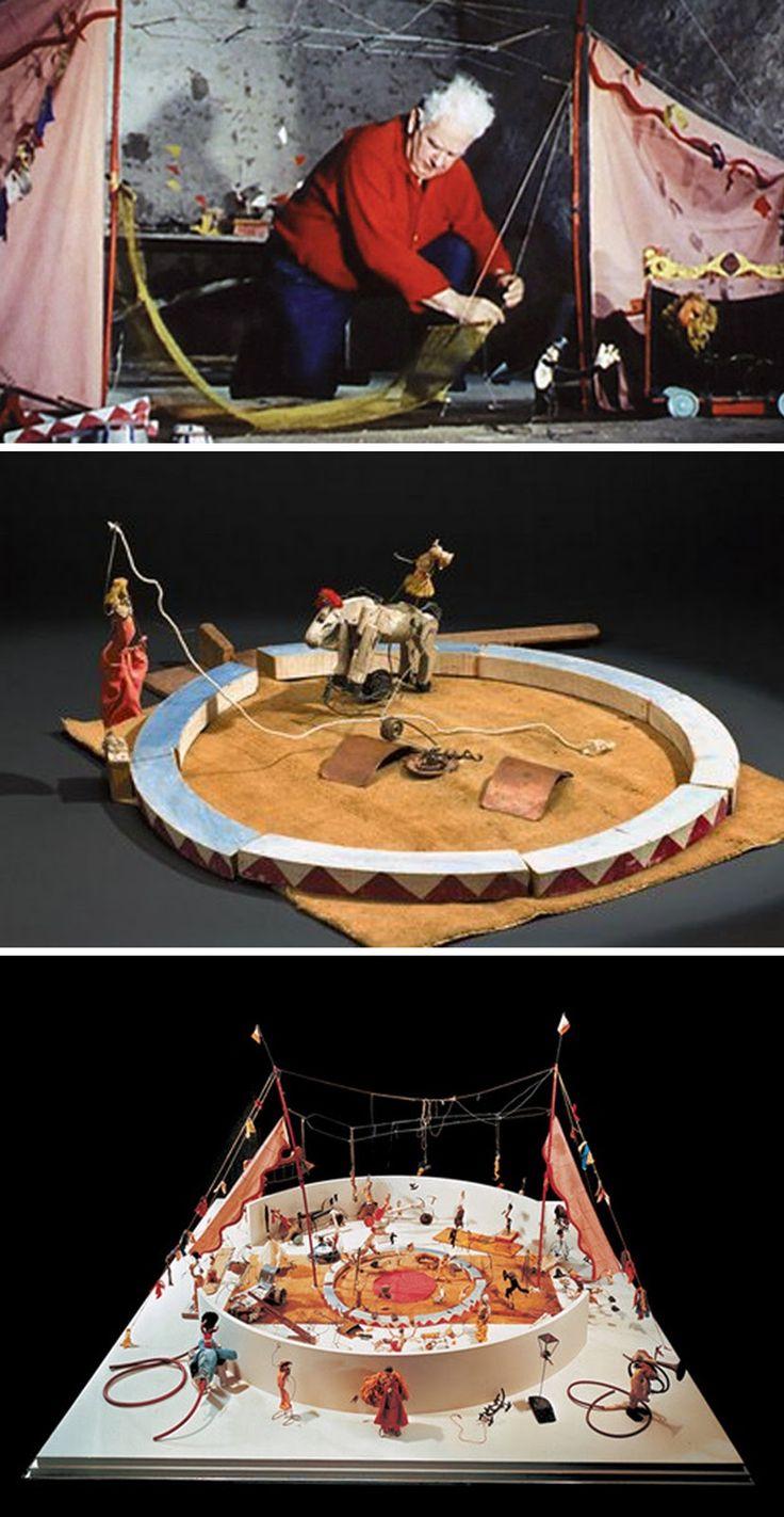 Alexander Calder performing his Circus. via klt's -repinned from http://LinusGallery.com #art #artists
