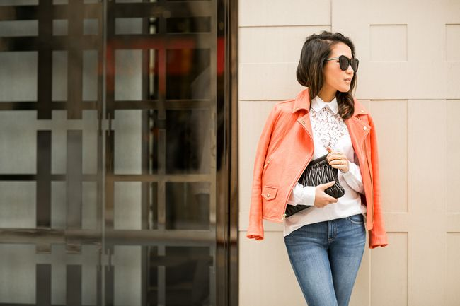Hidden Lace :: Coral jacket & Cutout pumps