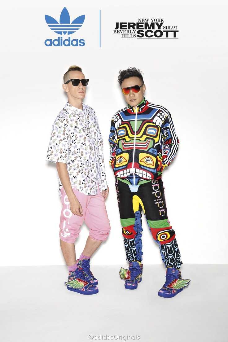 adidas original x Jeremy Scott  Streetwear und ausgefallene Mode bei Sizeer.de!