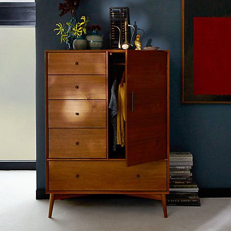 Buy West Elm Mid Century Chifforobe, Acorn Online At Johnlewis.com