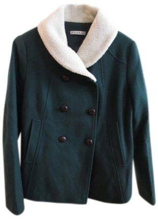 À vendre sur #vintedfrance ! http://www.vinted.fr/mode-femmes/manteaux-dhiver/26130529-manteau-caban-court-vert-kookai