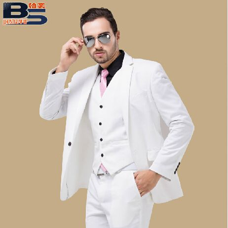 male suits white men wedding dress groom suit Male formal dress  costume male party for singer bar jacket pants vests     Tag a friend who would love this!     FREE Shipping Worldwide     Get it here ---> http://onlineshopping.fashiongarments.biz/products/male-suits-white-men-wedding-dress-groom-suit-male-formal-dress-costume-male-party-for-singer-bar-jacket-pants-vests-2/