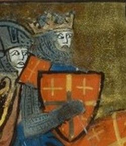 From Wikiwand: Godfrey of Bouillon, from a manuscript of the Roman de Godefroy de Bouillon (Maître du Roman de Fauvel, c. 1330)