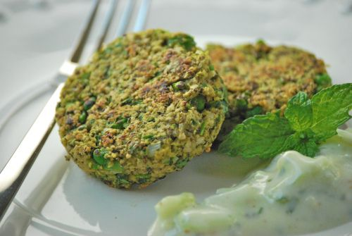 lentil cakes, made a raita with it instead and subbed in some traditional indian spices