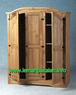Jual Lemari Pakaian Minimalis Harga Murah Kayu Jati Model Desain Terbaru