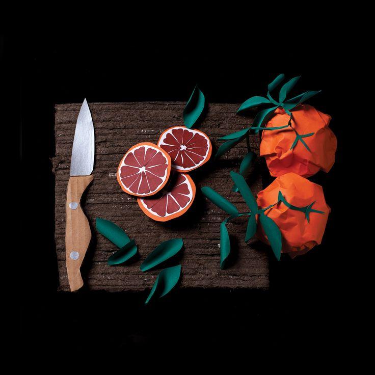 origami oranges, Overhead