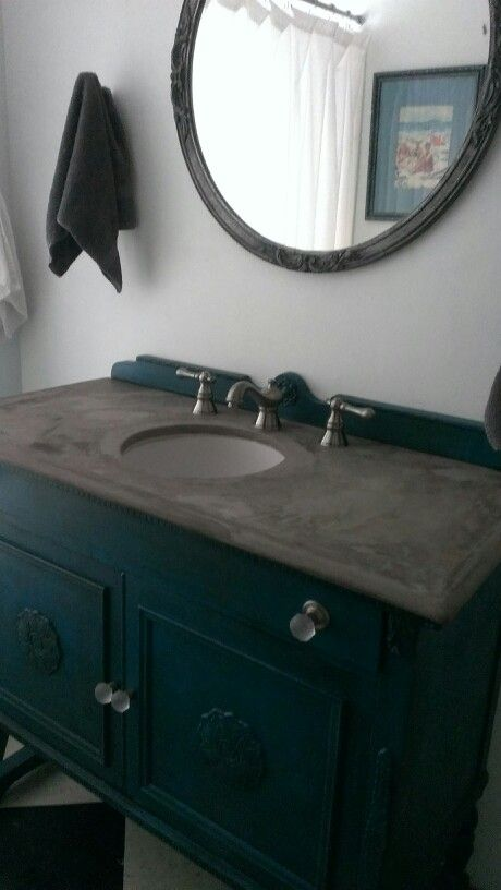 I Made A Concrete Countertop For My Bathroom Sink With