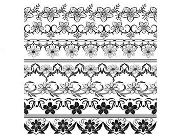 Hand drawn doodle text divider swirly clip art by qidsignproject