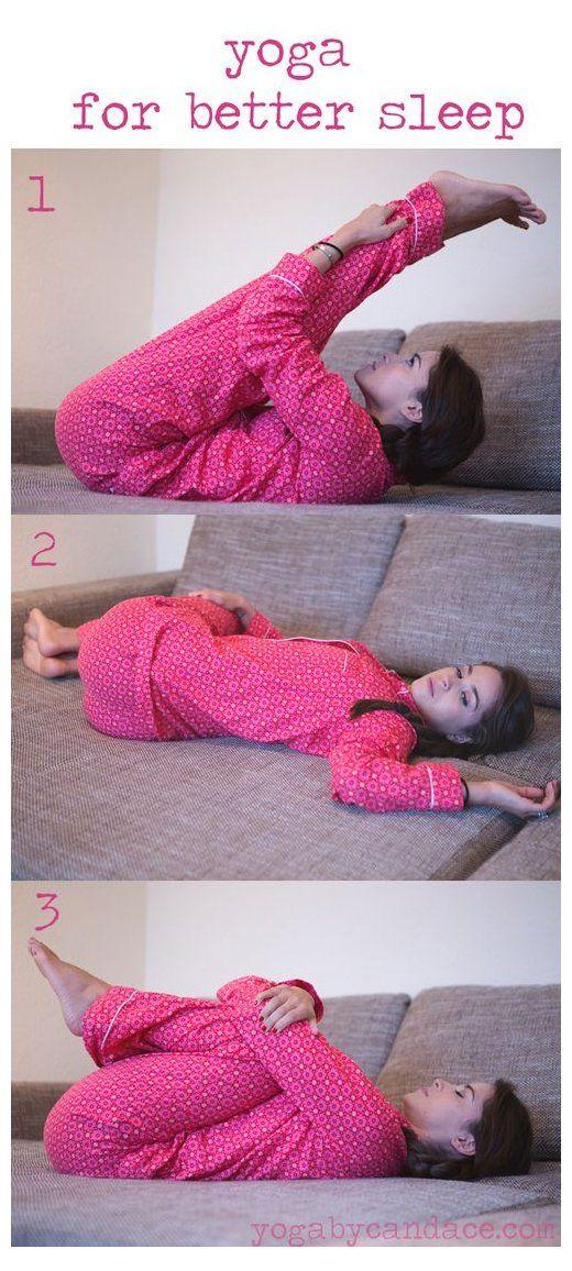 3 Yoga Poses For Better Sleep Exercise For Better Sleep Exerciseforbettersleep Do You Ever Look Back On Things Yo How To Do Yoga Bedtime Yoga Better Sleep