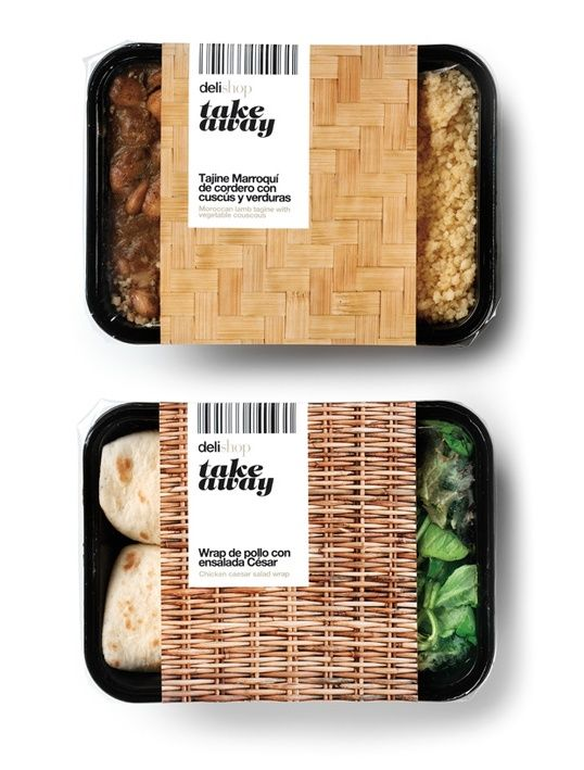 "Delishop Take Away packaging designed by Enric Aguilera. ""The new line of prepared dishes 'Take Away' for Delishop based on the concept 'urban picnic' is presented as a fun option to consume the products from different points of #summer picnic"