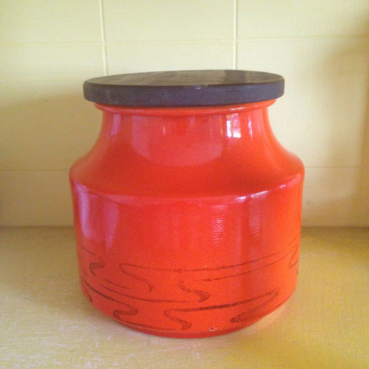 Vintage 1970's Tin Canister by QueSeraVintageGoods on Etsy